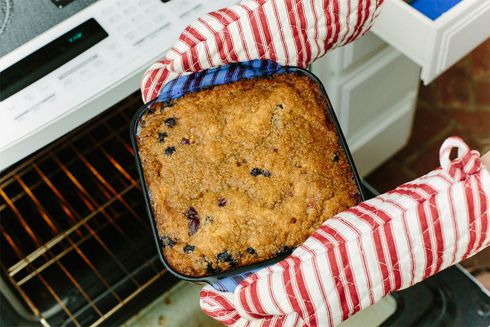 Summertime Favorite: Blueberry Buckle recipe photo