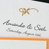 Golden Vines Wedding Invitation Suite