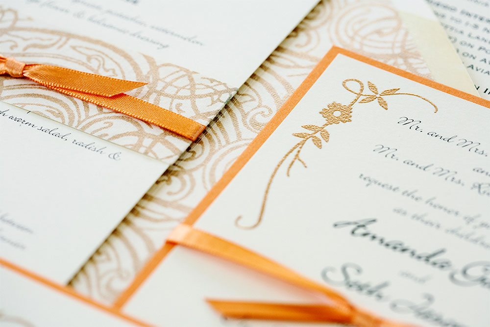 Invitations: Golden Vines