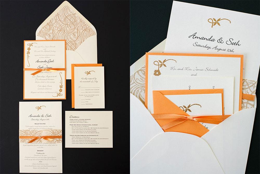 Golden Vines Wedding Invitations
