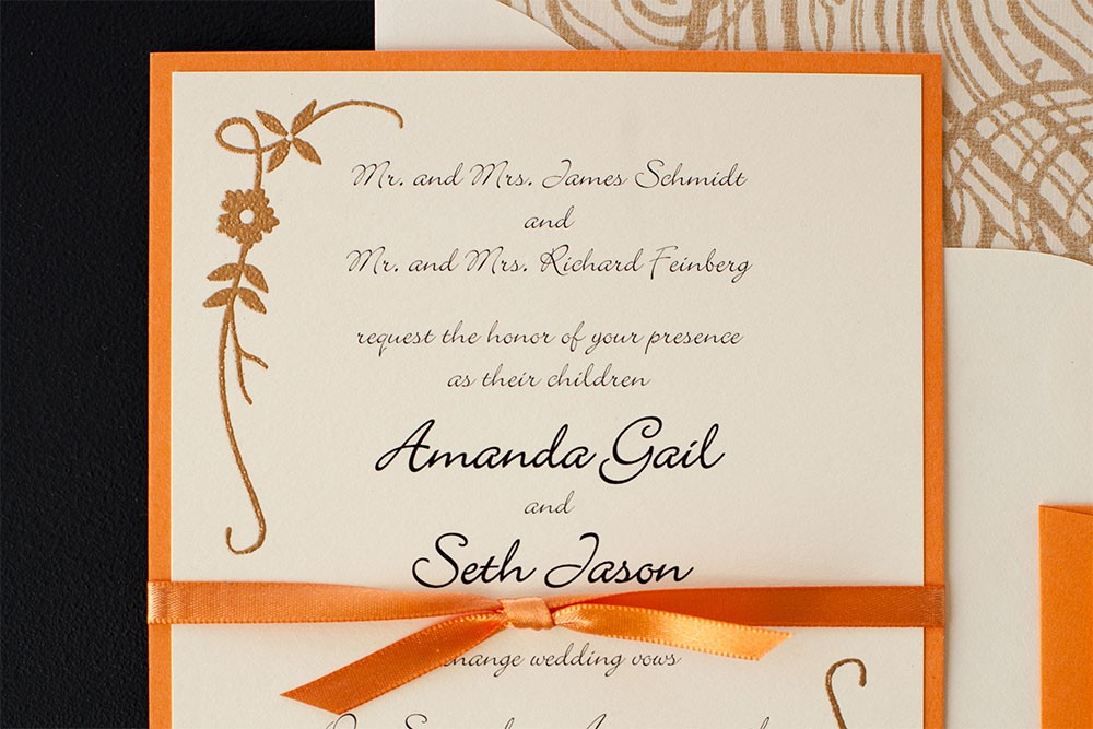 Golden Vines Wedding Invitations