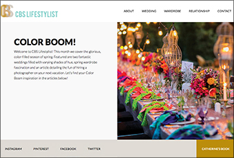 Web Design: CBS Lifestylist Website