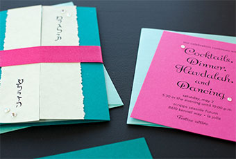 Bat Mitzvah Invitations: Pretty in Pink