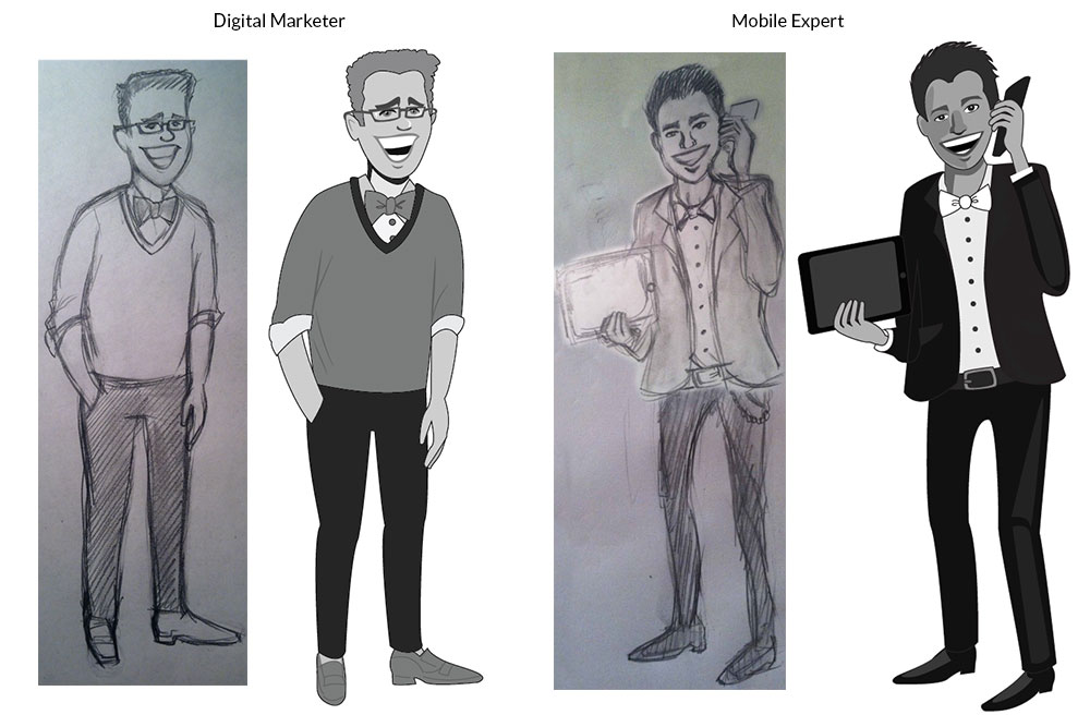 Illustration: Bow Tie Characters