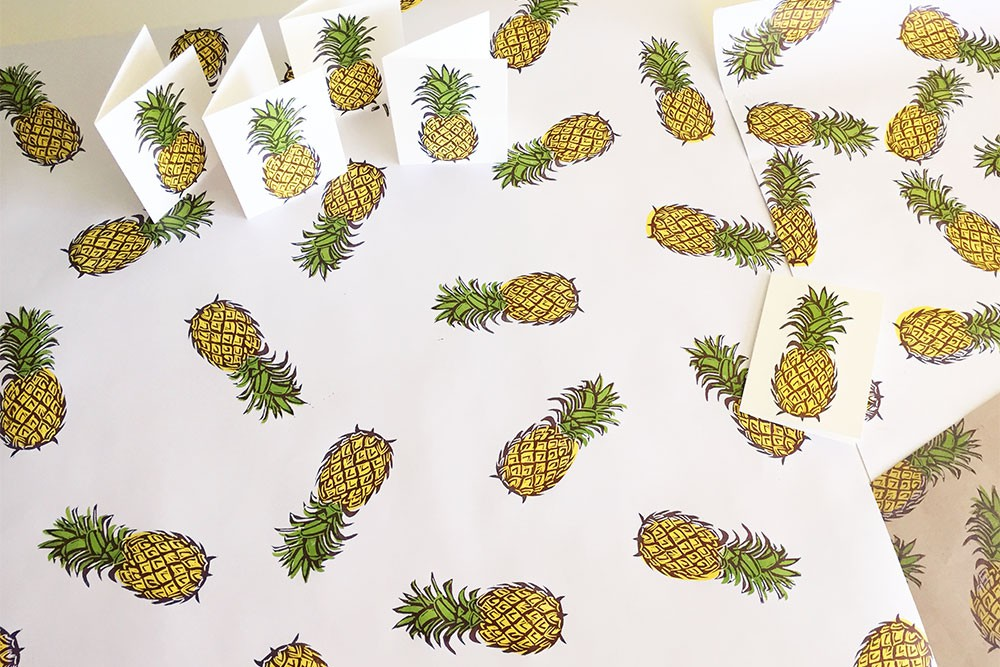 Pineapple stamp project