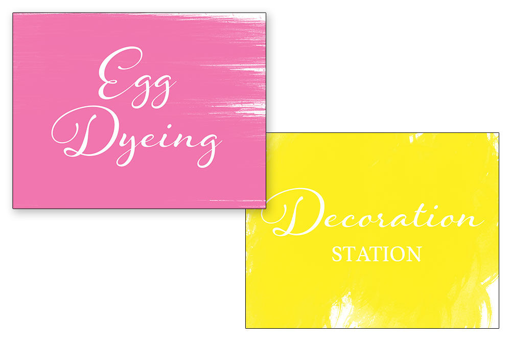 Signage for the Red Door Easter event
