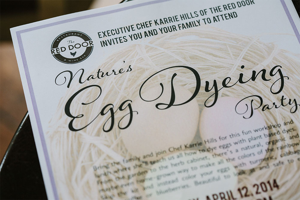 Graphic Design: Easter Event at the Red Door