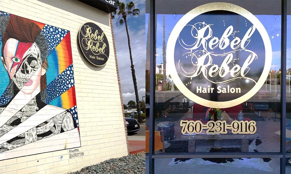 Custom Logo: Rebel Rebel Hair Salon