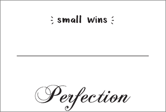 Small Wins inspiration graphic