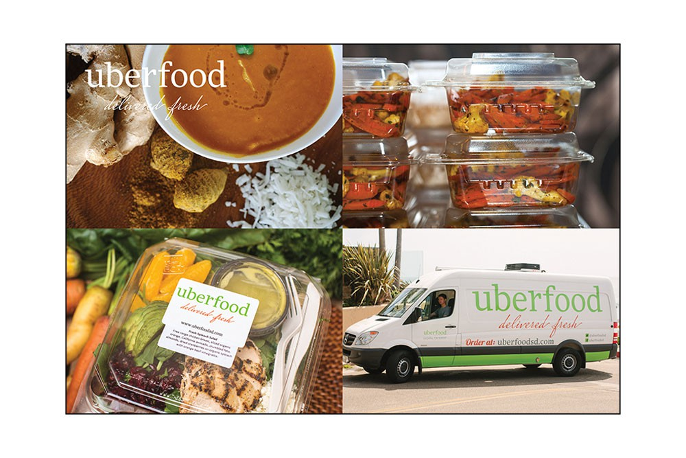 Graphic Design: Uberfood Promotional Pieces