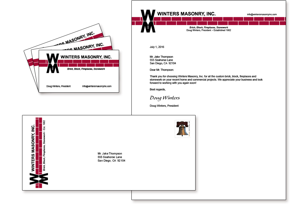 Business Branding: Winters Masonry, Inc.